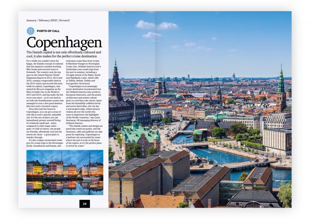 Cruise Adviser – January / February 2018 Destination Focus: Copenhagen