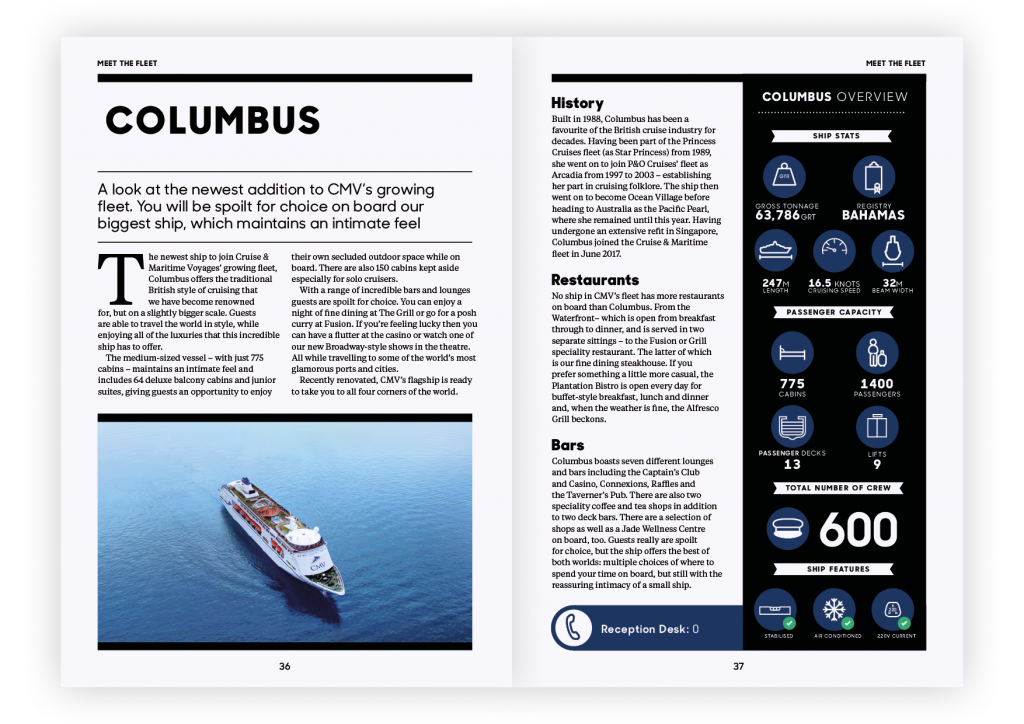 Columbus Infographic – Globe Issue One